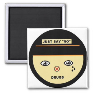Just say no 2 inch square magnet