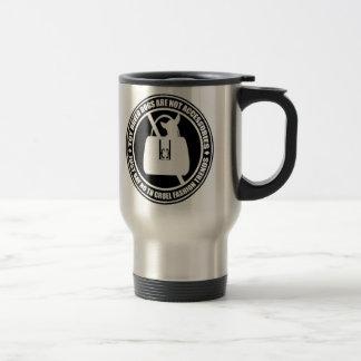 Just Say No! Animals as Fashion 15 Oz Stainless Steel Travel Mug