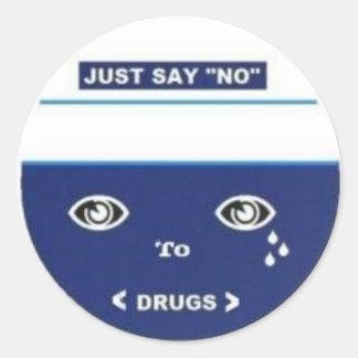 Just say no classic round sticker