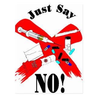 Just say no Design Postcard