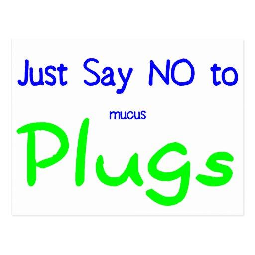 Just Say No (Green) Postcard