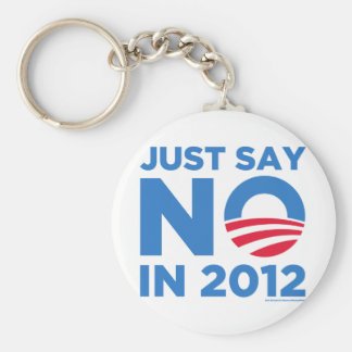 Just Say NO In 2012 Basic Round Button Keychain