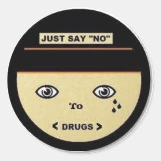 Just say no, Sticker