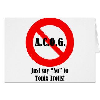 """Just say """"No"""" to ACOG! Card"""