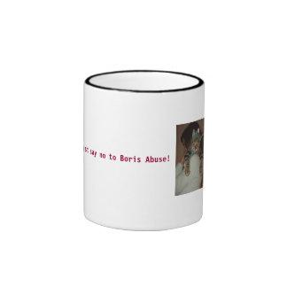 Just say no to boris abuse! ringer mug