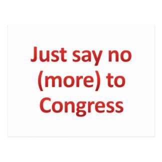 Just say no to Congress Postcard