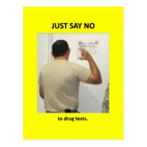 just-say-no-to-drug-tests postcard