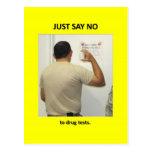 just-say-no-to-drug-tests postcards