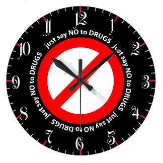 Just say no to drugs wallclocks