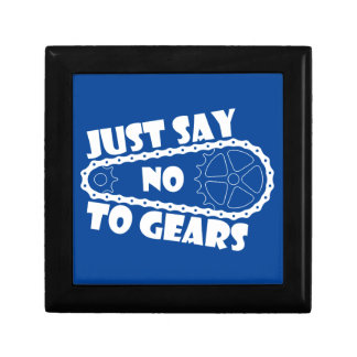Just Say No To Gears Keepsake Box