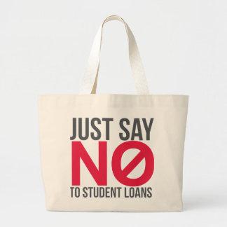 Just Say No to Student Loans Tote Bag