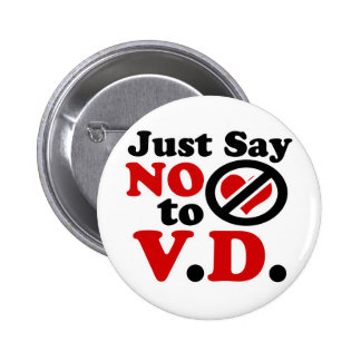 Just Say no to Valentines day Pinback Button