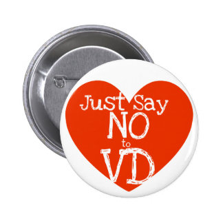 Just say no to VD Pinback Button