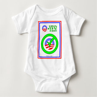 Just Say O! - Show your  pro-Obama attitude! Baby Bodysuit