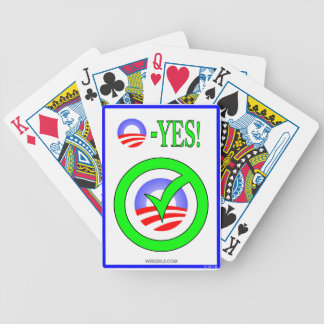 Just Say O! - Show your  pro-Obama attitude! Bicycle Playing Cards