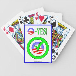 Just Say O! - Show your  pro-Obama attitude! Card Decks