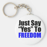 Just Say Yes To Freedom Key Chains