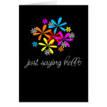Just saying hello greeting cards