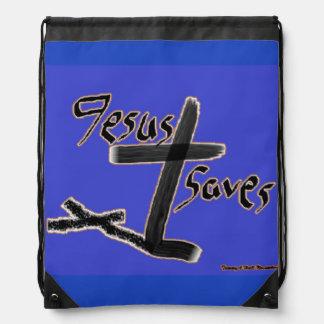 Just Saying...Jesus Saves Drawstring Backpack