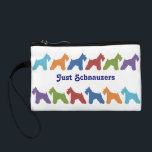 """Just Schnauzers Change Purse<br><div class=""""desc"""">Just Schnauzers Cosmetics Bag  Any girl that loves Mini Schnauzers will love this colorful silhouettes of Schnauzers cosmetic bag.</div>"""