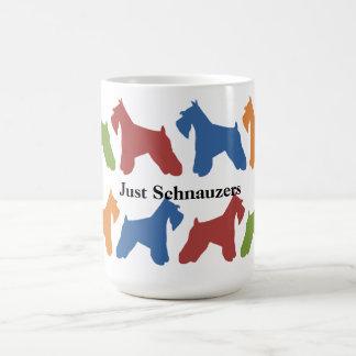 Just Schnauzers Classic White Coffee Mug
