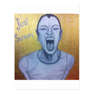Just Scream by Unconscious on Canvas Postcards