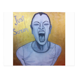 Just Scream by Unconscious on Canvas Postcard