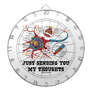 Just Sending You My Thoughts Neuron Synapse Dart Board