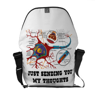 Just Sending You My Thoughts (Neuron / Synapse) Courier Bag