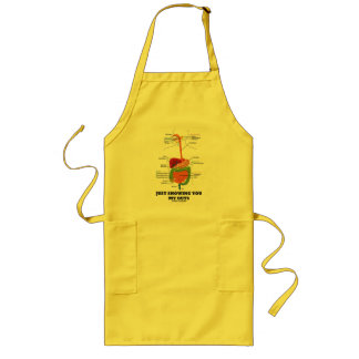 Just Showing You My Guts (Black Font Digestive) Long Apron