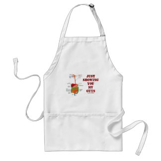 Just Showing You My Guts (Digestive System Humor) Adult Apron