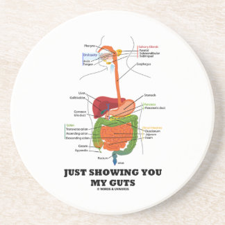 Just Showing You My Guts (Digestive System Humor) Coasters