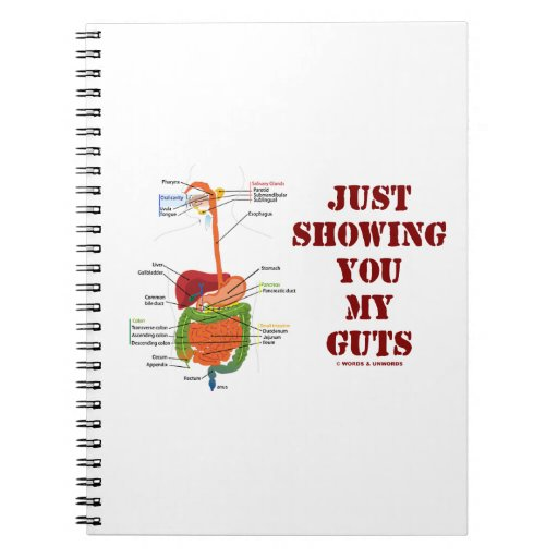 Just Showing You My Guts (Digestive System Humor) Spiral Notebooks