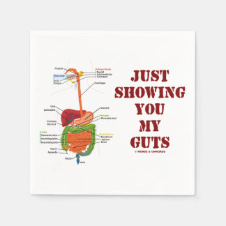 Just Showing You My Guts (Digestive System Humor) Paper Napkin