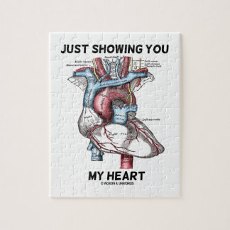 Just Showing You My Heart (Anatomical Heart) Puzzles