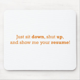 Just sit down mouse pad