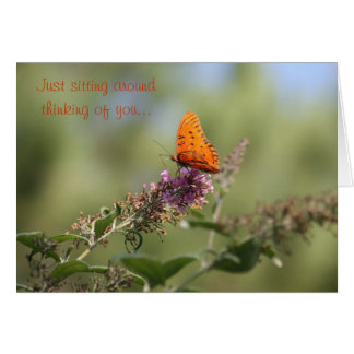 Just sitting around thinking of you greeting cards