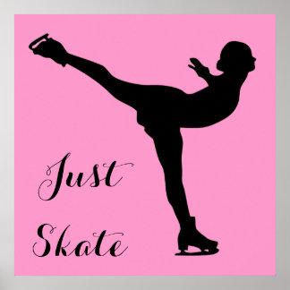 Just Skate Ice Skater Poster