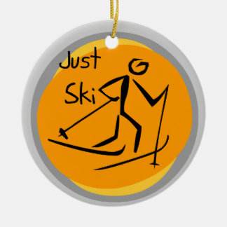 Just Ski T-shirts and Gifts Ceramic Ornament