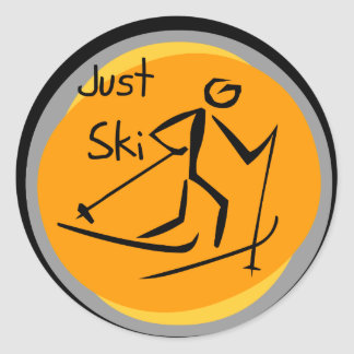 Just Ski T-shirts and Gifts Classic Round Sticker