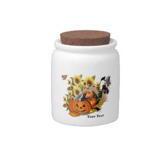 Just Skunks Fall Harvest Porcelain Candy Jar