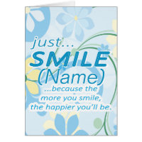 Just Smile Add a Name Card
