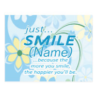 Just Smile Add a Name Postcard