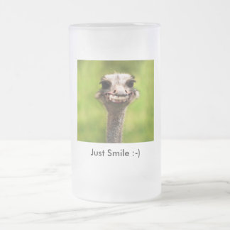 Just Smile :-) Frosted Glass Beer Mug
