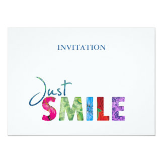 Just Smile Happy Quote #01 Card