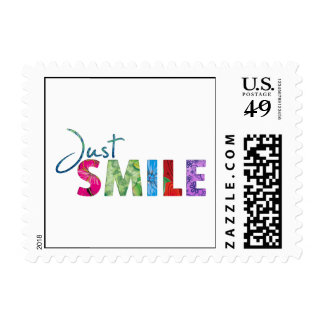 Just Smile Happy Quote 01 Postage