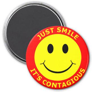 Just Smile It's Contagious Fridge Magnet