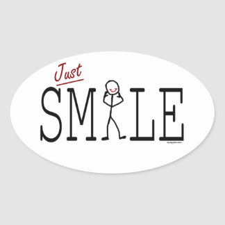 Just Smile Oval Sticker
