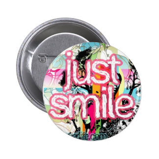 just smile pinback button