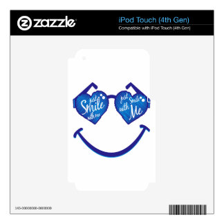 just smile with me, love and glases decal for iPod touch 4G
